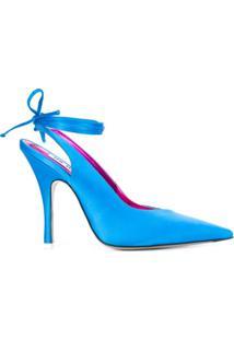 Attico Scarpin De Cetim - Azul