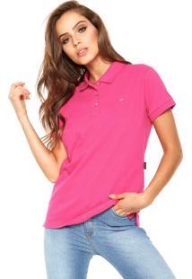 Camisa Polo Ellus Bordado Rosa