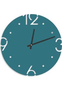 Relógio De Parede Premium Ágata Com Números Vazados 50Cm Grande