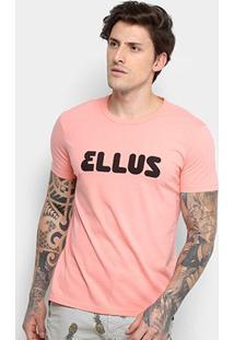 Camiseta Ellus Classic Manga Curta Masculina - Masculino-Rosa Claro