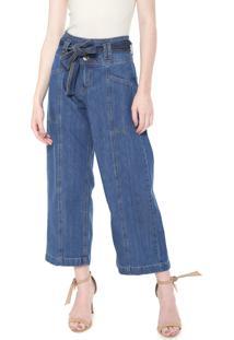 74adc3f36 ... Calça Jeans Colcci Pantacourt Recortes Azul