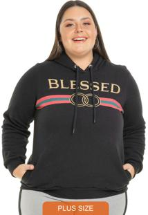 Blusão Blessed Com Capuz Preto