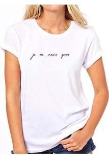 Camiseta Coolest Je Ne Sais Quoi Feminina - Feminino-Branco