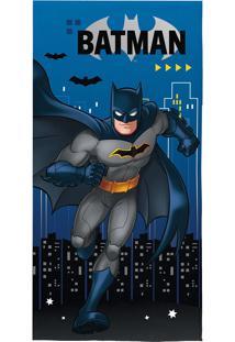 Toalha De Praia Infantil Aveludada Lepper Batman Transfer Azul