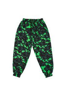 Calça Alkary Jogger Camuflada Preta Verde