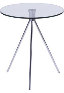 Mesa Tripã©- Incolor & Prateada- 57Xã˜50Cm- Or Desor Design