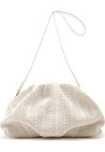 Maxi Clutch Avril White Natural | Schutz
