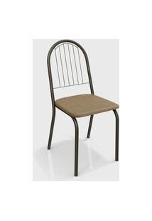 Cadeira Noruega Bronze/Cappuccino (Par) Kappesberg