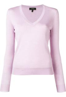 Theory Slim-Fit Pullover - Roxo