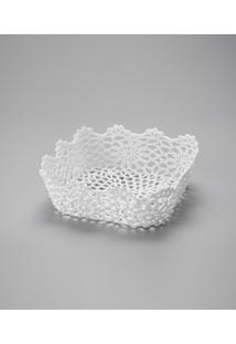 Cesta Quadrada Em Forma De Croche Impermeável De Plástico 25X9 Cm - Unissex