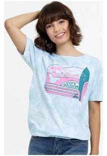 Blusa Feminina Tie Dye Mickey Neon Disney