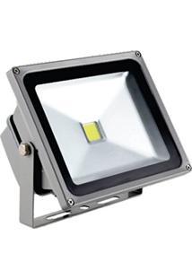 Refletor Led Cob 50W - Branco Quente