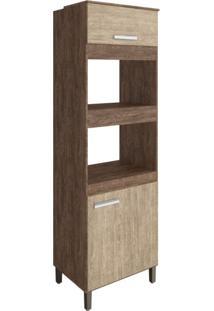 Paneleiro Torre Quente 2 Portas Modulado New Concept Decibal Freijó/Acácia