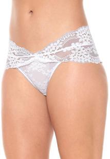 Calcinha Calvin Klein Underwear Caleçon Renda Branca - Kanui