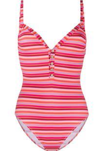C'Est La V.It Bambi Striped Print Swimsuit - Rosa