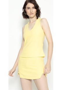 Blusa Lisa - Amarelo Claro - Estilo Hestilo H