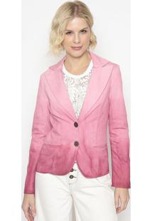 Blazer Com Bolsos- Rosa- Cotton Colors Extracotton Colors Extra