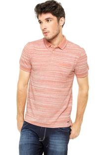 Camisa Polo Hering Listras Coral