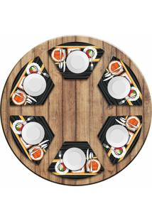 Jogo Americano Love Decor Para Mesa Redonda Wevans Sushi Kit Com 6 Pçs