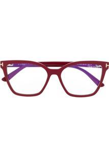 Tom Ford Eyewear Óculos De Sol Com Lentes Coloridas - Vermelho