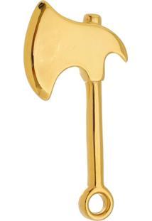 Pingente Machado Tudo Jóias De Aço Inox Modelo Dourado