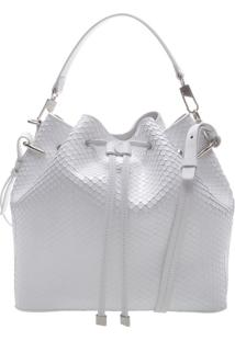 Bucket Bag Snake White | Schutz