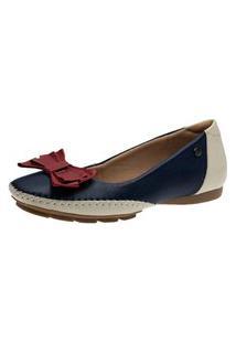 Sapatilha Laço Doctor Shoes 2778 Petróleo/Framboesa