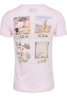 Camiseta Masculina Coelho - Rosa