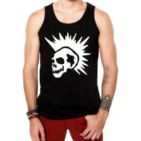 Camiseta Regata Criativa Urbana Caveira Punk - Masculino-Preto 1e878283b2e