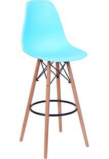 Banqueta Eames Dkr- Azul Claro & Bege- 113X46,5X42Cmor Design