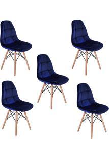 Cadeira E Banco De Jantar Impã©Rio Brazil Boton㪠- Azul Marinho/Incolor - Dafiti
