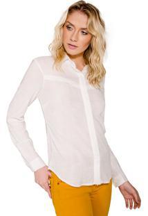 Camisa Handbook Básica Recorte Off White