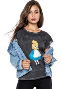 Blusa Preta Ampla Alice In Wonderland®