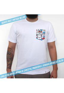El Gaton - Camiseta Clássica Com Bolso Masculina