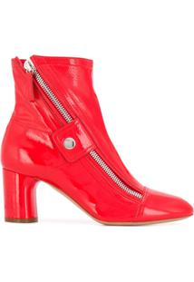 Casadei Moto-Style Ankle Boots - Vermelho