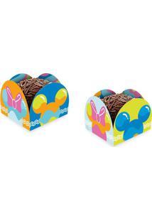 Porta Forminha De Papel Mickey Cores Com 50 Unidades