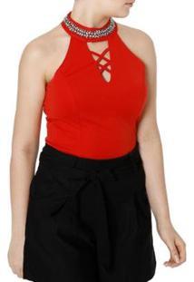 Blusa Eagle Rock Frente Única Feminina - Feminino-Vermelho