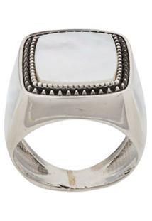 Emanuele Bicocchi Stone Embellished Ring - Prateado