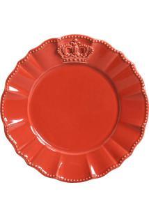 Jogo De Pratos Sobremesa 6 Pçs Windsor Vermelho Porto Brasil