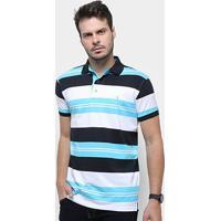 9ccddae70d Camisa Polo Aleatory Listrada Masculina - Masculino-Preto+Azul