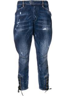 048a4c2d5 ... Dsquared2 Calça Jeans Saruel Destroyed - Azul