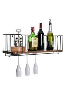 Prateleira Para Bar, Vinho, Adega, Taças