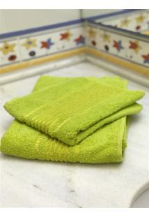 Jogo 2 Peças Toalhas De Banho E Rosto Prisma Af1387 - Verde