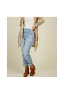 Calça Mom Jeans Feminina Puídos Biotipo