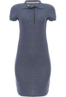 Vestido Piquet Molinet Shine Aleatory - Feminino-Azul