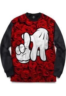 Blusa Bsc La Hand Red Rose Full Print - Masculino