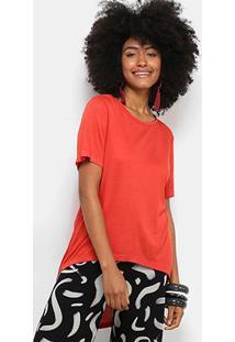 Blusa Cantão Tricot Viscose Feminina - Feminino-Vermelho Claro