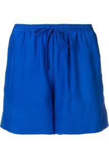 P.A.R.O.S.H. Short Com Cordão De Ajuste - Azul