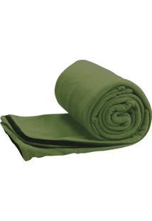 Saco De Dormir Cobertor Camping Trekking Stratus Fleece Verde - Coleman
