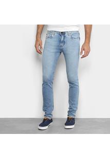 Calça Jeans Opera Rock Skinny Estonada Masculina - Masculino-Azul Claro